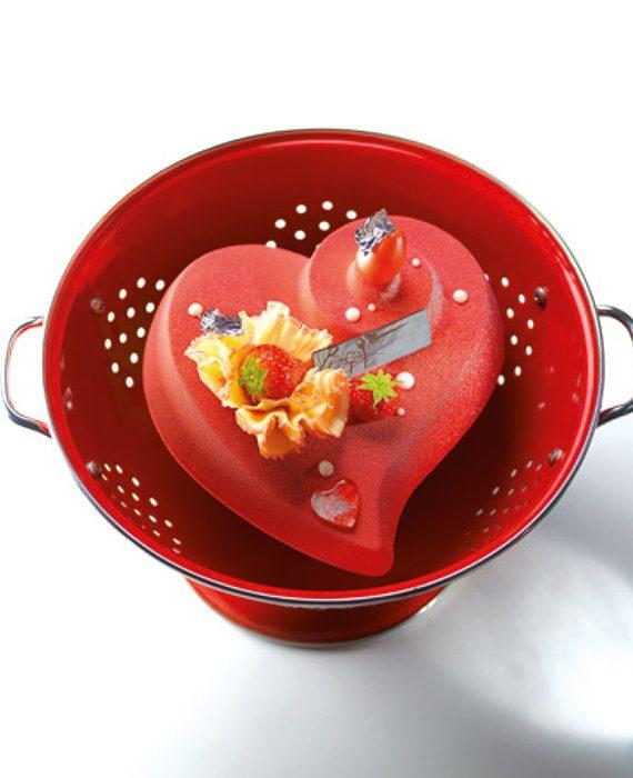 """Molde de plástico mono porção """"coração"""""""