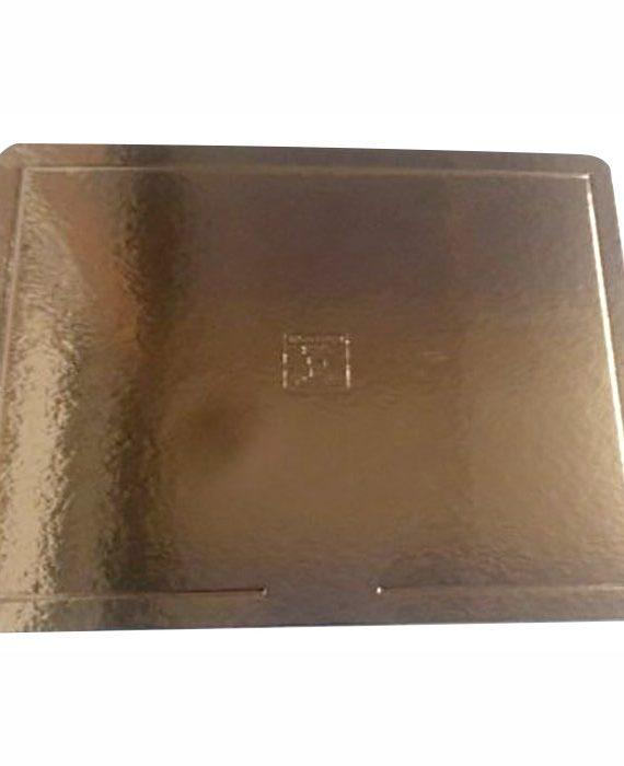 Base para bolo - borda lisa - dourada