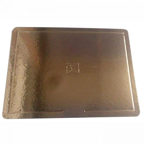 Base para bolo – borda lisa – dourada