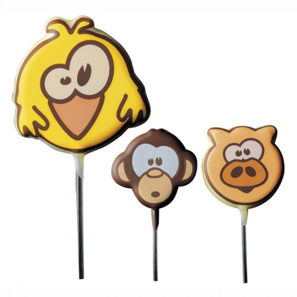 Blister - lollipop caras de bichos