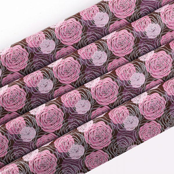 """Transfer - 40 x 25 cm - """"dahlias roses"""""""