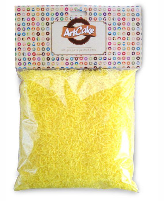 Flocos de papel de arroz amarelo