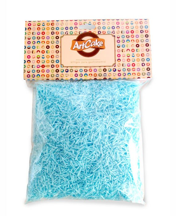Flocos de papel de arroz azul