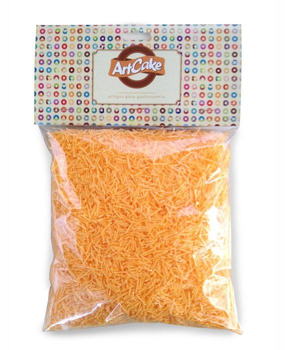 Flocos de papel de arroz laranja