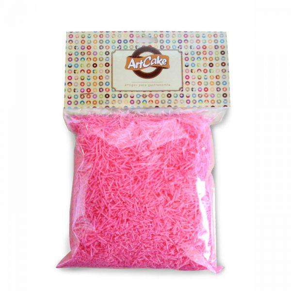 Flocos de papel de arroz rosa