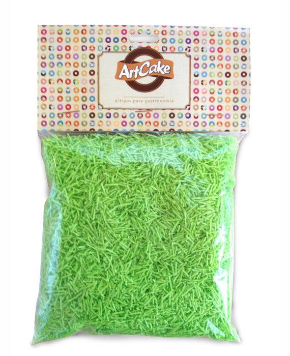 Flocos de papel de arroz verde