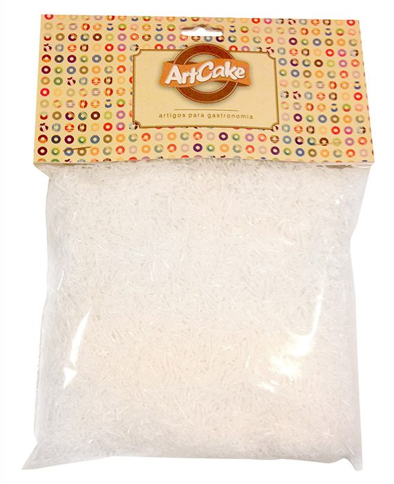 Flocos de papel de arroz branco