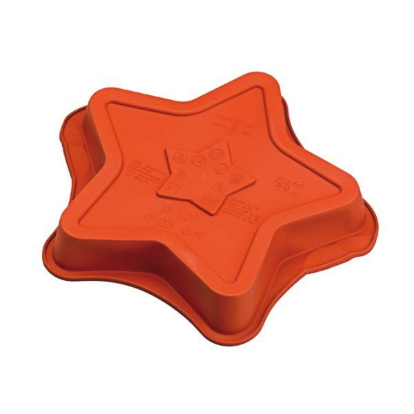 Forma de silicone mono porção estrela cinco pontas