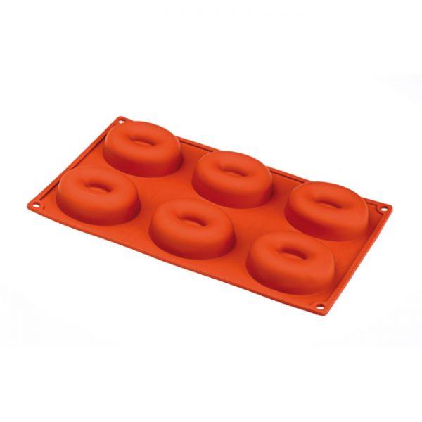 Forma de silicone multi porção savarin oval