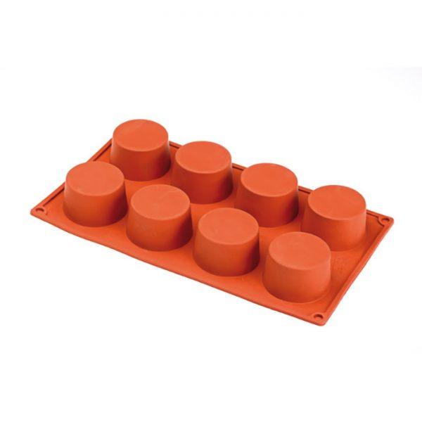 Forma de silicone multi porção cilindros