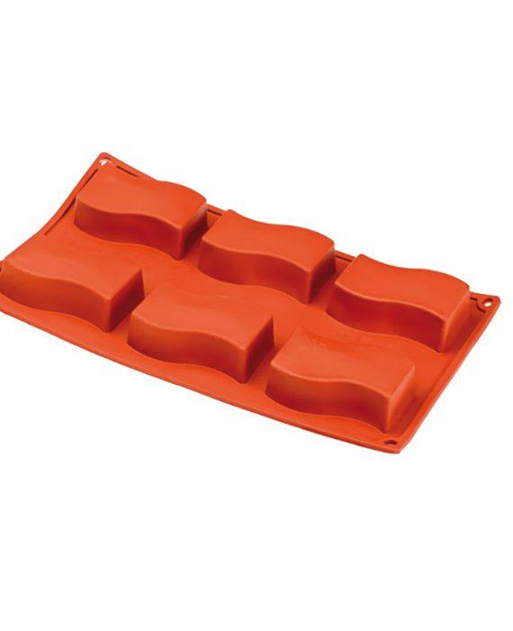 Forma de silicone multi porção ondas
