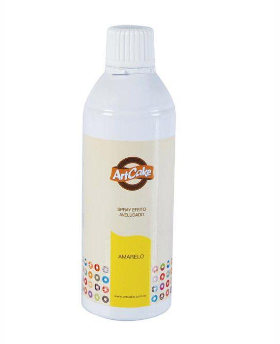 Spray efeito aveludado amarelo