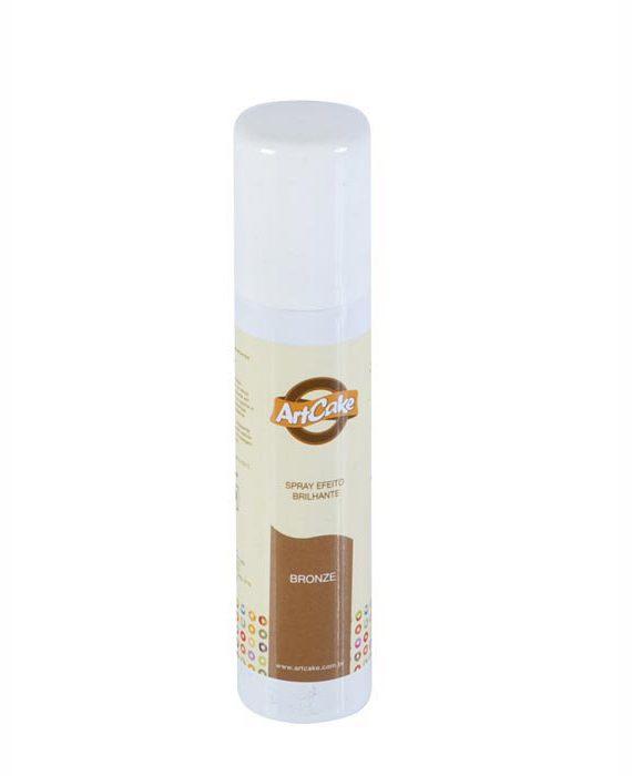 Spray efeito brilhante bronze