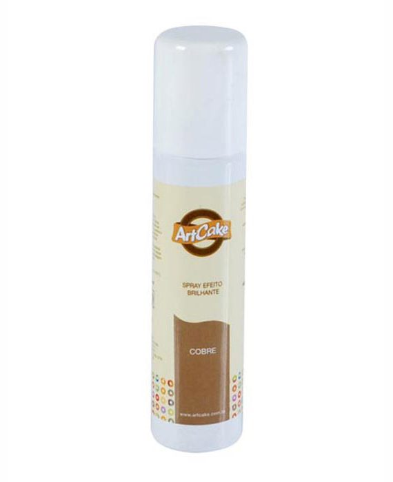 Spray efeito brilhante cobre