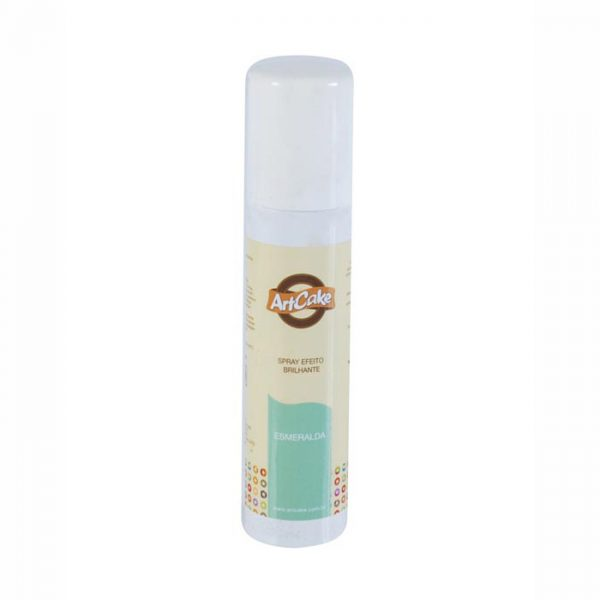 Spray efeito brilhante esmeralda