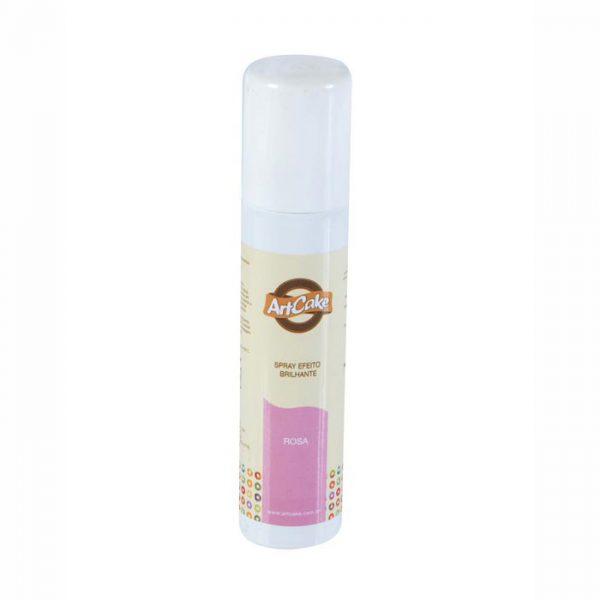 Spray efeito brilhante rosa