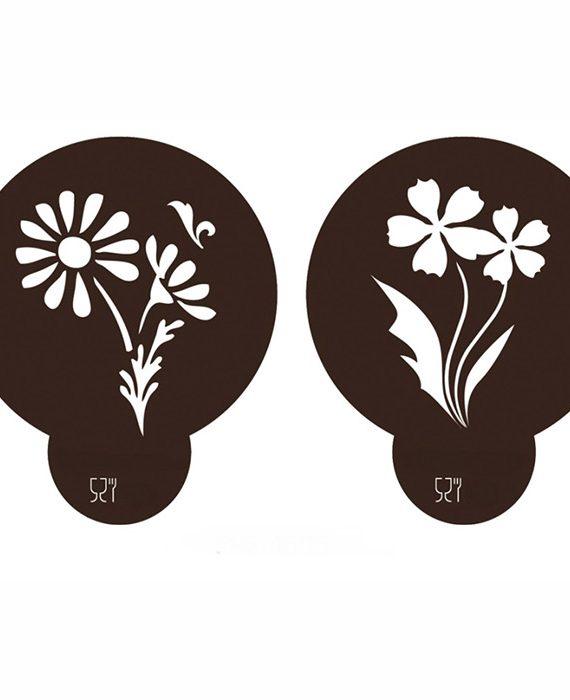 Stencil Flores 1