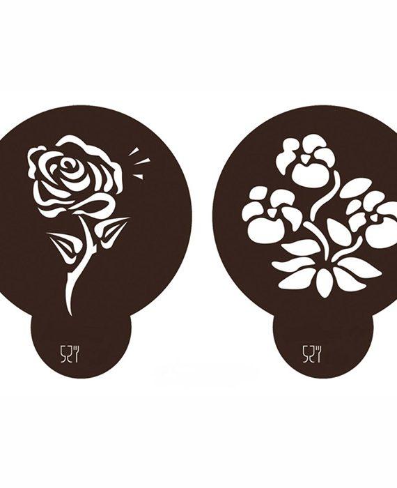 Stencil Flores 4