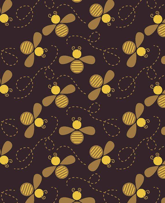 "Transfer - 40 x 25 cm - ""abelhas"""
