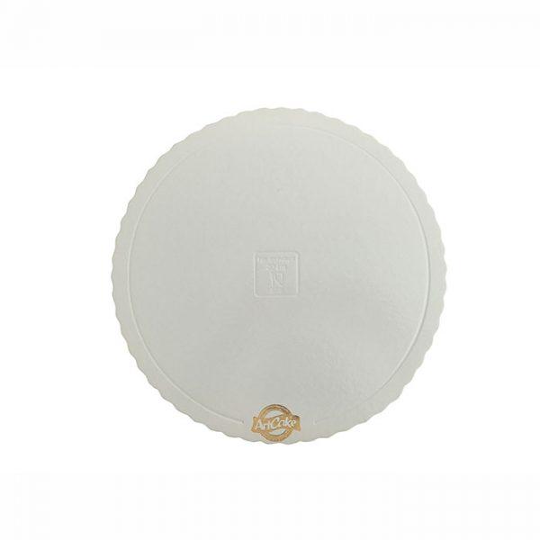 Base para bolo - borda ondulada branca