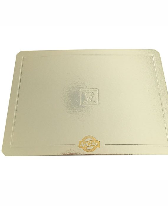 Base para bolo - borda lisa - prata