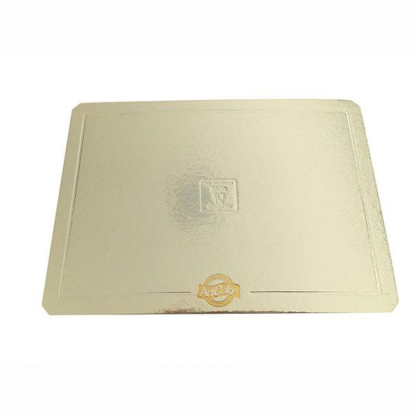 Base para bolo – borda lisa – prata