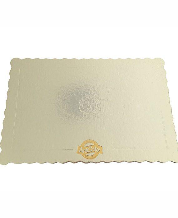 Base para bolo - borda ondulada prata
