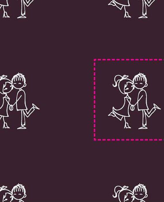 """Transfer - 40 x 25 cm - """"casal"""" - branco"""