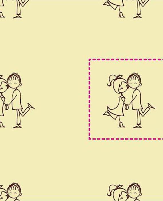 "Transfer - 40 x 25 cm - ""casal"" marrom"